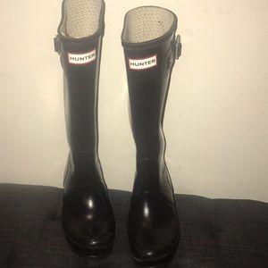 Hunter rain boots worn a few times